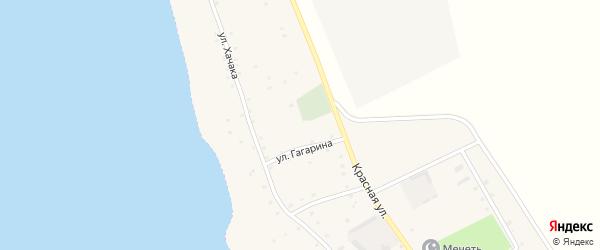 Улица Гагарина на карте аула Джиджихабля с номерами домов