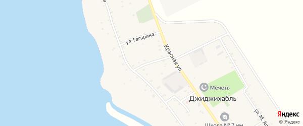 Улица Хакурате на карте аула Джиджихабля с номерами домов