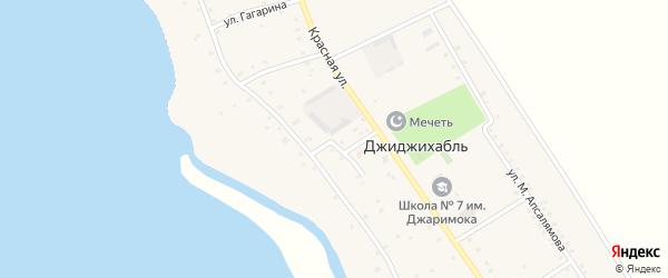 Больничная улица на карте аула Джиджихабля с номерами домов