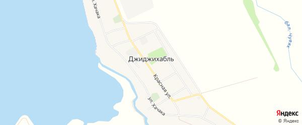 Карта аула Джиджихабля в Адыгее с улицами и номерами домов