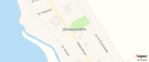 Улица им Хачака Х.М. на карте аула Джиджихабля с номерами домов