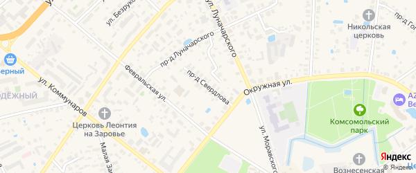 Проезд Свердлова на карте Ростова с номерами домов