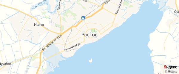 Карта Ростова с районами, улицами и номерами домов