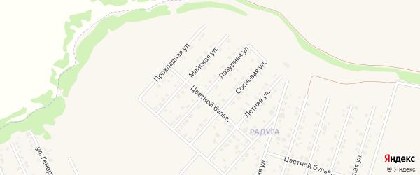 Лазурная улица на карте садового некоммерческого товарищества Пищевика-1 с номерами домов
