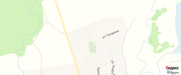 Улица Гагарина на карте аула Нешукай с номерами домов