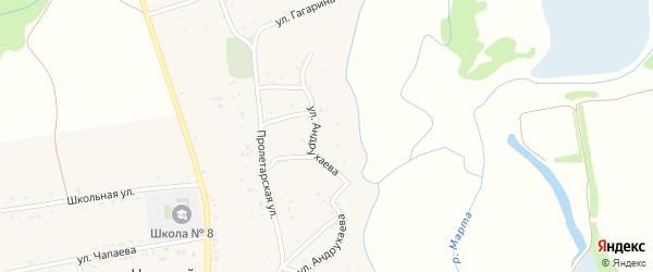 Улица Андрухаева на карте аула Нешукай с номерами домов