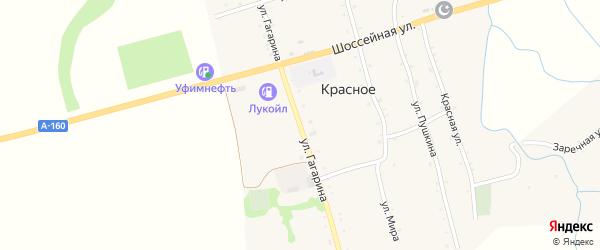 Улица Гагарина на карте Красного села с номерами домов