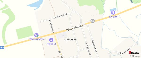 Шоссейная улица на карте Красного села с номерами домов