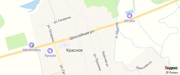Улица Пушкина на карте Красного села с номерами домов