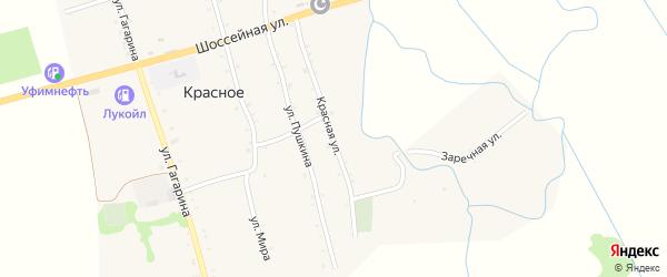 Красная улица на карте Красного села с номерами домов