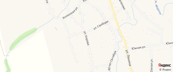 Улица Кирова на карте аула Ассоколая с номерами домов