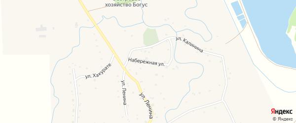 Набережная улица на карте аула Ассоколая с номерами домов