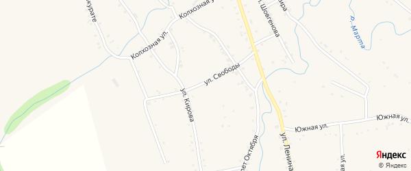 Улица Свободы на карте аула Ассоколая с номерами домов