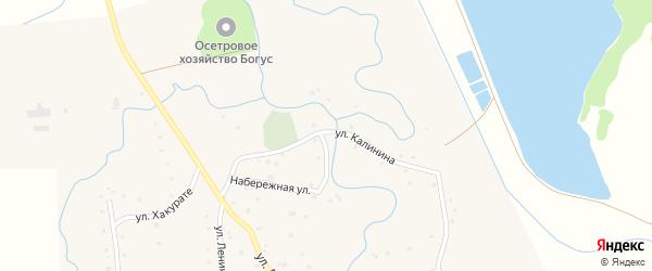 Улица Калинина на карте аула Ассоколая с номерами домов