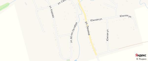 Улица 60 лет Октября на карте аула Ассоколая с номерами домов