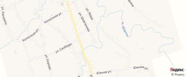 Улица Шовгенова на карте аула Ассоколая с номерами домов