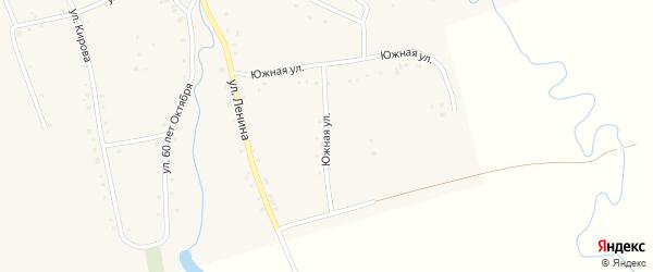 Южная улица на карте аула Ассоколая с номерами домов