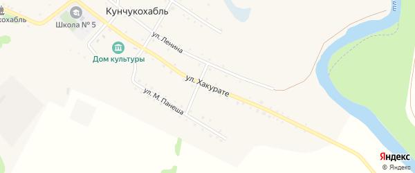Улица Хакурате на карте аула Кунчукохабля с номерами домов