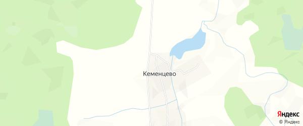 Карта деревни Кеменцево в Архангельской области с улицами и номерами домов