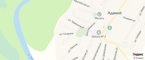 Революционная улица на карте Адамия аула с номерами домов
