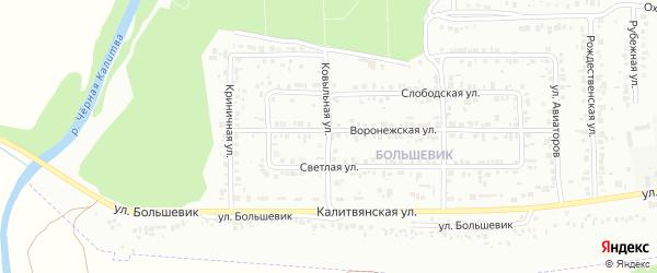 Ковыльная улица на карте Россоши с номерами домов
