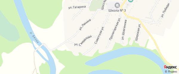 Улица Свердлова на карте Адамия аула с номерами домов