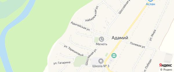 Улица Г.Читао на карте Адамия аула с номерами домов