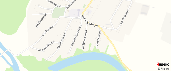 Улица Шовгенова на карте Адамия аула с номерами домов