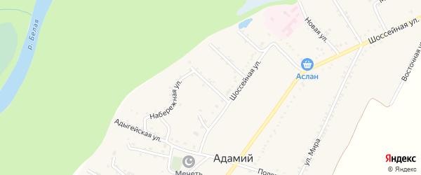 Улица Андрухаева на карте Адамия аула с номерами домов