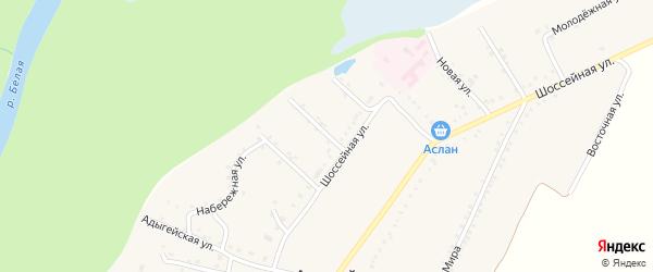 Майкопская улица на карте Адамия аула с номерами домов