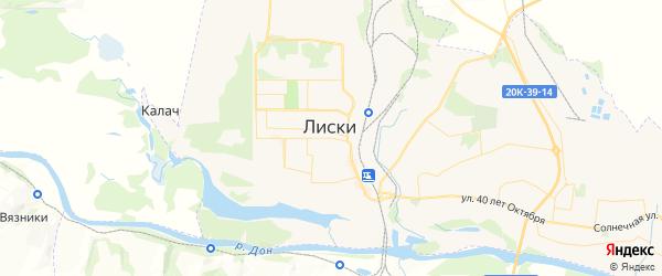 Карта Лисок с районами, улицами и номерами домов