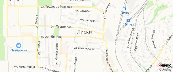 Карта территории ГК Ориона города Лисок в Воронежской области с улицами и номерами домов