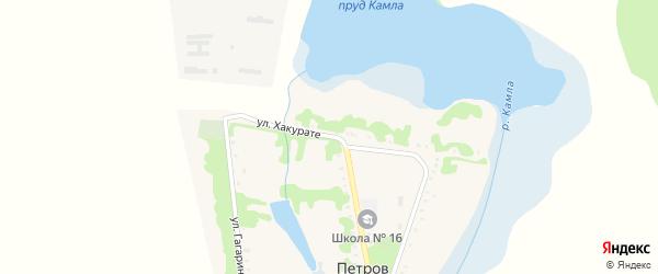 Улица Хакурате на карте хутора Петрова с номерами домов