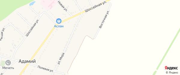 Восточная улица на карте Адамия аула с номерами домов
