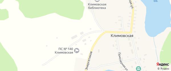Приозерная улица на карте Климовской деревни с номерами домов