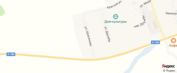 Улица Шовгенова на карте хутора Шевченко с номерами домов