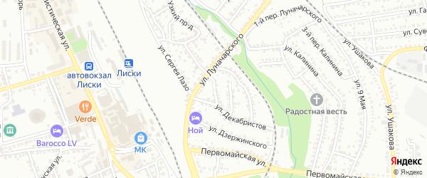 Декабристов 1-й переулок на карте Лисок с номерами домов