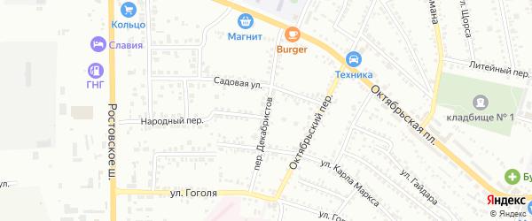 Переулок Декабристов на карте Россоши с номерами домов