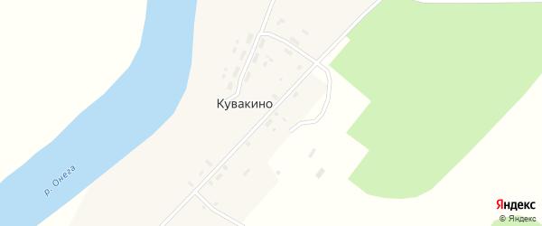 Центральная улица на карте деревни Кувакино с номерами домов