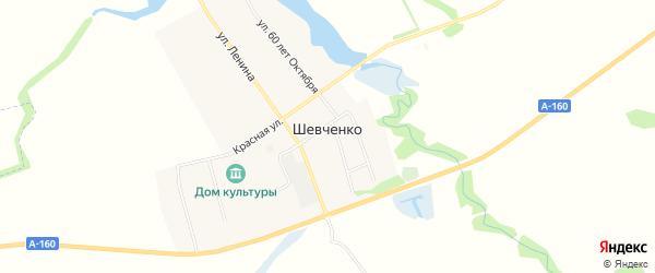 Карта хутора Шевченко в Адыгее с улицами и номерами домов