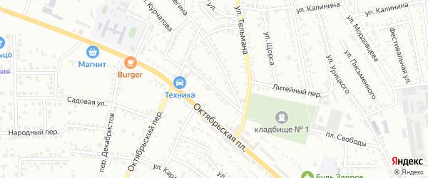 Улица Александра Невского на карте Россоши с номерами домов