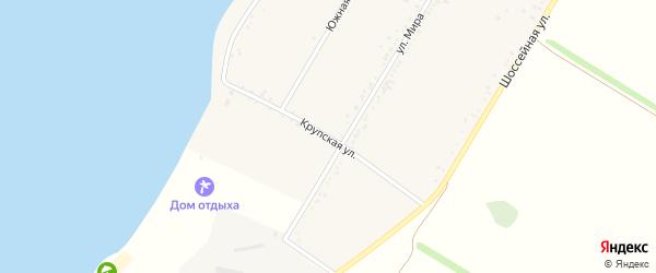 Крупская улица на карте Красногвардейского села с номерами домов