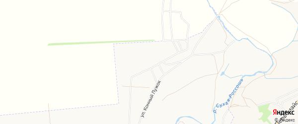 Карта поселка СТ Химика-2 города Россоши в Воронежской области с улицами и номерами домов