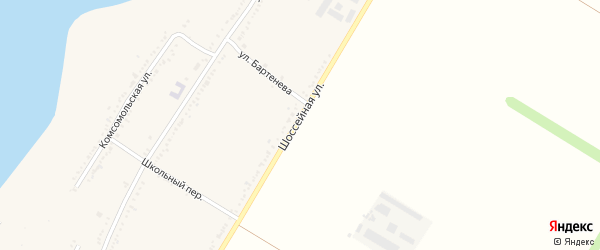 Шоссейная улица на карте Красногвардейского села с номерами домов