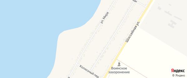 Улица Мира на карте Красногвардейского села с номерами домов