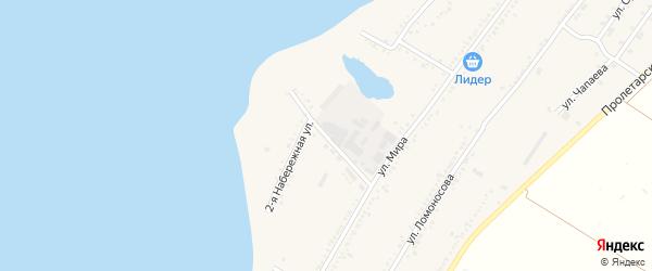 Набережная 2-я улица на карте Красногвардейского села с номерами домов