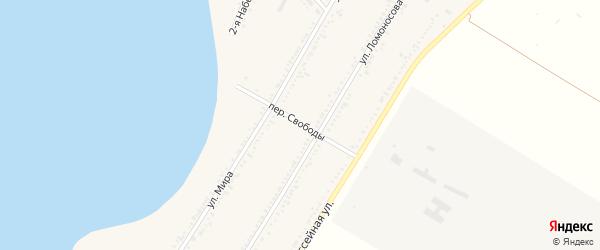 Переулок Свободы на карте Красногвардейского села с номерами домов