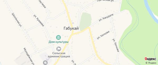 Улица Хакурате на карте аула Габукая с номерами домов