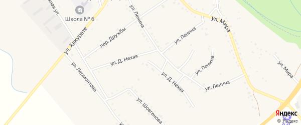 Д.Нехая улица на карте аула Габукая с номерами домов