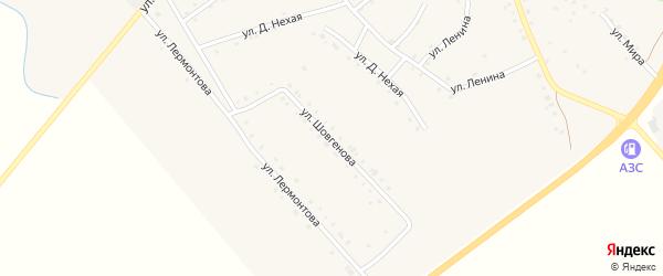 Улица Шовгенова на карте аула Габукая с номерами домов
